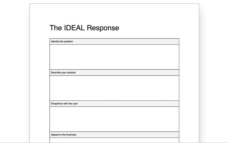 IDEAL Response Worksheet