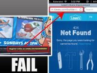 Lowe's user experience FAIL