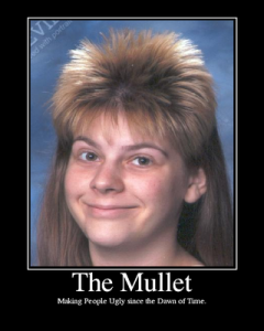 There's nothing wrong with a mullet if that's who you are!